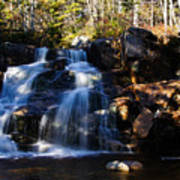 Waterfall, Whitewall Brook Art Print