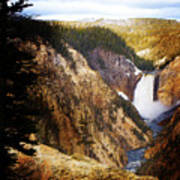 Waterfall Yellowstone 2 Art Print