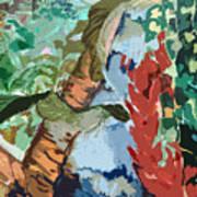 Waterfalling Jungle Art Print