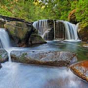 Waterfalls At Sweet Creek Falls Trail Art Print