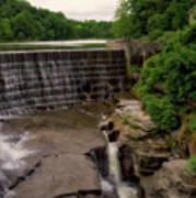 Waterfalls Cornell University Ithaca New York 08 Vertical Art Print