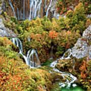 Waterfalls In Plitvice Lakes National Park Art Print