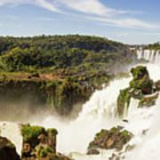 Waterfalls On Iguazu River Art Print