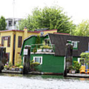 Waterfront Houses Art Print