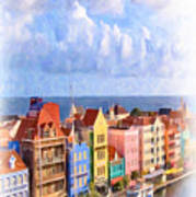 Waterfront Houses Art Print