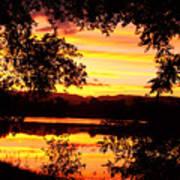 Waterfront Spectacular Sunset Art Print