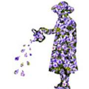 Watering Flowers Art Print