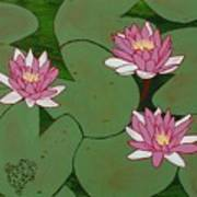 Waterlillies Art Print