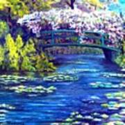 Waterlilly Bridge Art Print