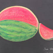 Watermelon Print by M Valeriano