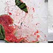 Watermelon Progression Art Print