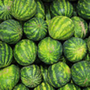 Watermelons At The Market Art Print