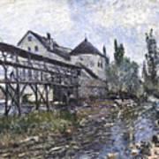 Watermill Near Moret Art Print
