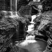 Watkins Glen Rainbow Falls #2 Art Print