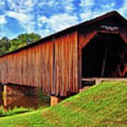 Watson Mill Covered Bridge 040 Art Print