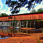 Watson Mill Covered Bridge 042 Art Print