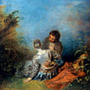 Watteau: False Step, C1717 Art Print