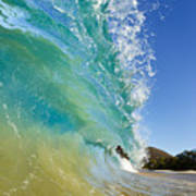 Wave Breaking At Makena Art Print