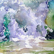 Wave Breaking Into Green Art Print