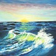 Wave By Early Light Art Print