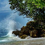 Wave Crashing Punta Cana Art Print