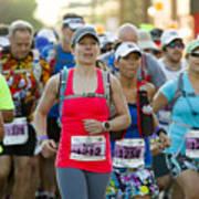 Wave Start At Pikes Peak Marathon And Ascent Art Print