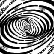 Wave Swirl Maze Art Print