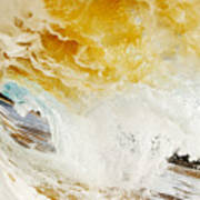 Wave Whitewash Art Print