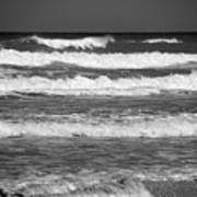 Waves 3 In Bw Art Print