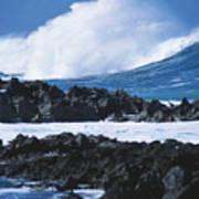 Waves And Rocks Art Print