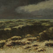 waves by Gustave Courbet Art Print