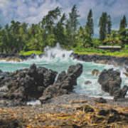Waves Crashing Kawee Point Art Print
