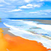 Waves Lapping On Beach 8 Art Print
