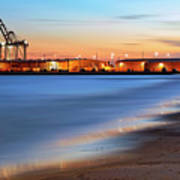 Waves Of Industry - Gulfport Mississippi - Sunset Art Print