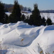 Waves Of Snow Art Print