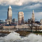 Waves On Cleveland Art Print