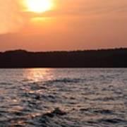 Waves On Greers Ferry Lake Art Print