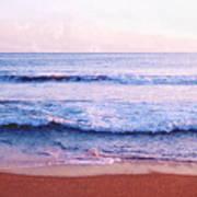 Waves On The Beach 2 Aedb Art Print