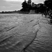 Waves On The Ganges Art Print