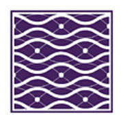 Waves With Border In Purple Art Print