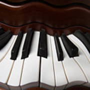 Wavey Piano Keys Art Print