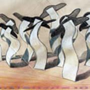 Wavey Square Orchard Art Print