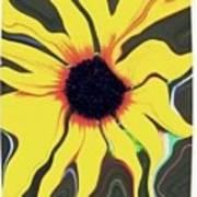 Waving Sunflower Art Print