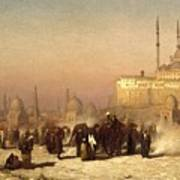 Way Between Old And New Cairo Art Print