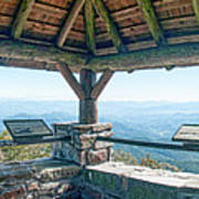 Wayah Bald Observation Tower - Macon County, North Carolina Art Print