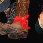 Waylon Jennings Boots Art Print
