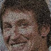 Wayne Gretzky Hockey Puck Mosaic Art Print