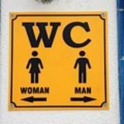 Wc Sign, Croatia Art Print