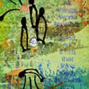 We Believe Romans 8 28 Art Print