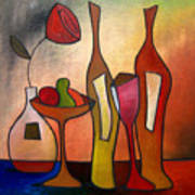 We Can Share - Abstract Wine Art By Fidostudio Art Print